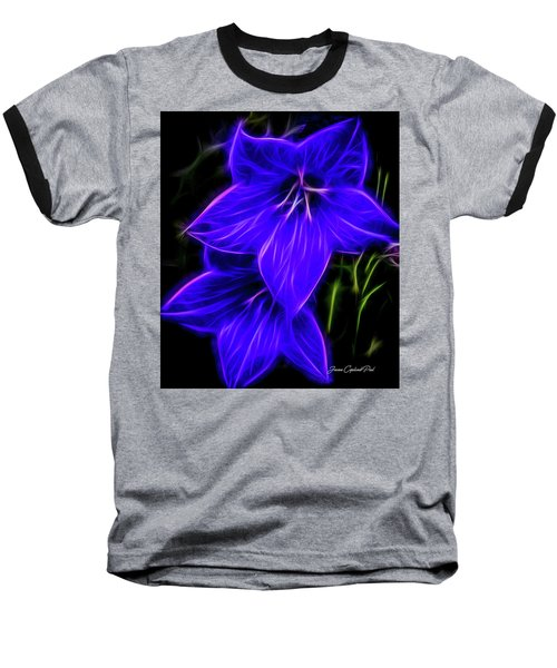Purple Passion Baseball T-Shirt by Joann Copeland-Paul