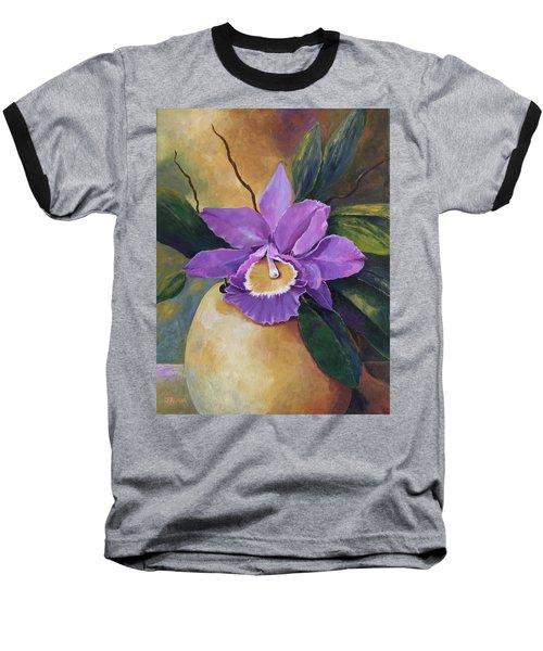 Purple Passion Orchid Baseball T-Shirt