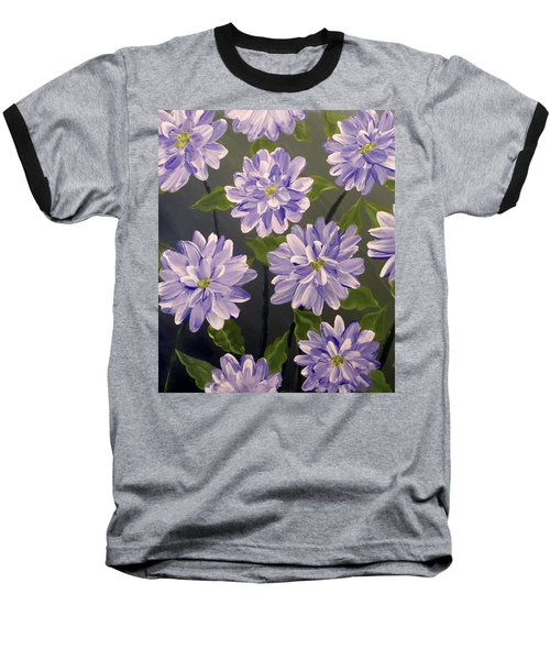 Purple Passion Baseball T-Shirt by Teresa Wing