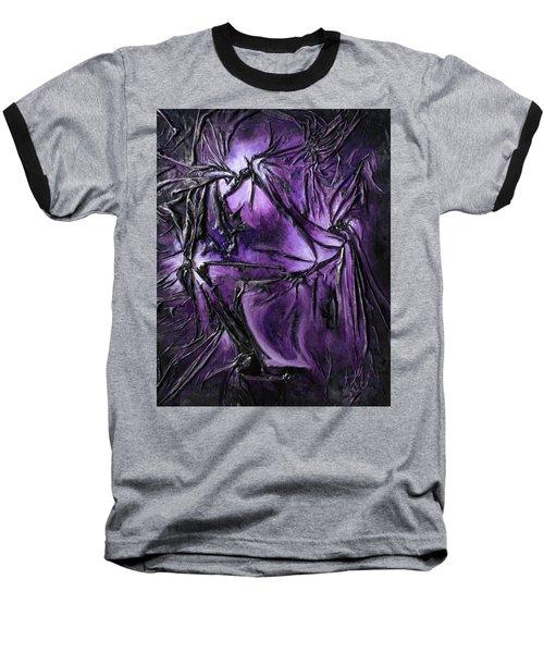Purple Pedals Baseball T-Shirt by Angela Stout