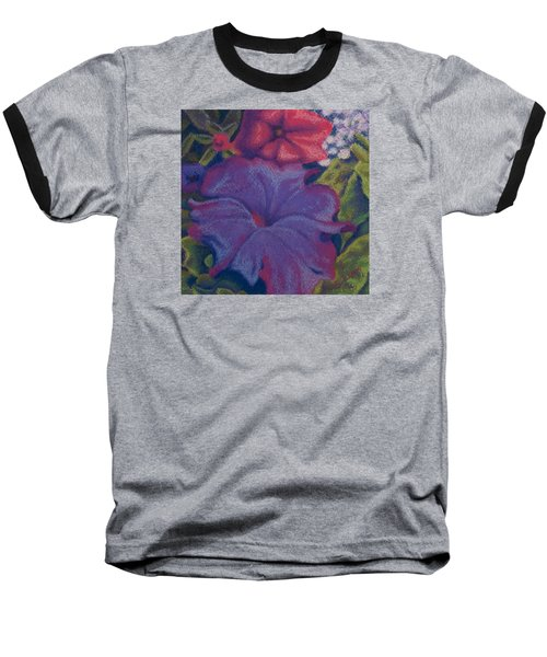 Purple Petunia Baseball T-Shirt