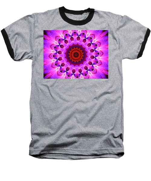 Purple, Pink And Orange Kaleidoscope Baseball T-Shirt