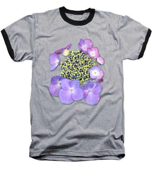 Purple Pods Sehemu Mbili Unyenyekevu Baseball T-Shirt by Bob Slitzan