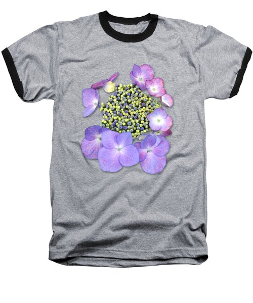 Purple Pods Sehemu Mbili Unyenyekevu Baseball T-Shirt