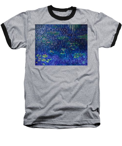 Purple Rain On Water Lilies Baseball T-Shirt
