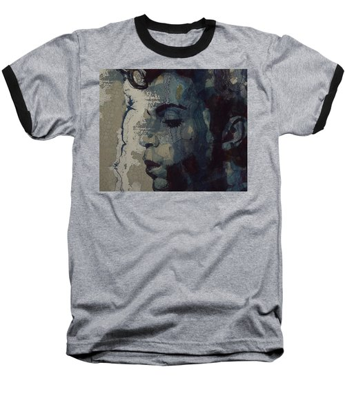 Baseball T-Shirt featuring the mixed media Purple Rain - Prince by Paul Lovering