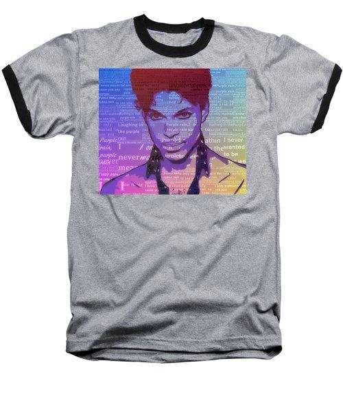 Purple Rain Typography Baseball T-Shirt
