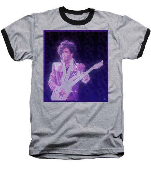 Purple Reign Baseball T-Shirt by Kenneth Armand Johnson