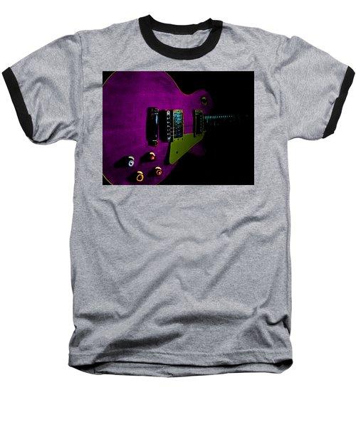 Purple Relic Les Paul II Hover Series Baseball T-Shirt
