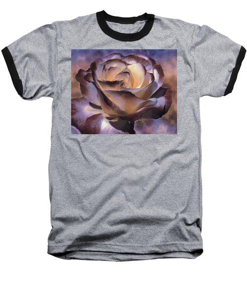 Purple Rose Baseball T-Shirt by Athala Carole Bruckner