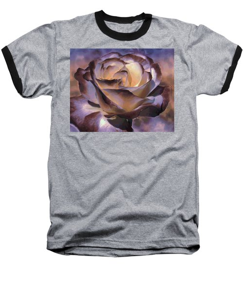 Purple Rose Baseball T-Shirt