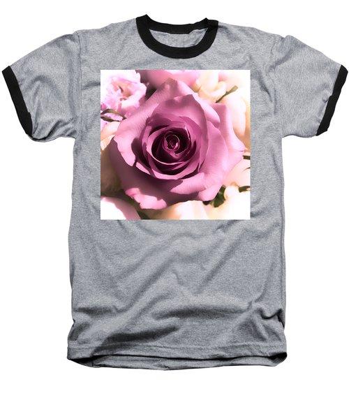 Purple Rose Baseball T-Shirt