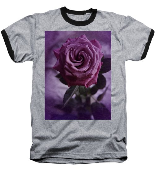 Purple Rose Of December Baseball T-Shirt by Richard Cummings