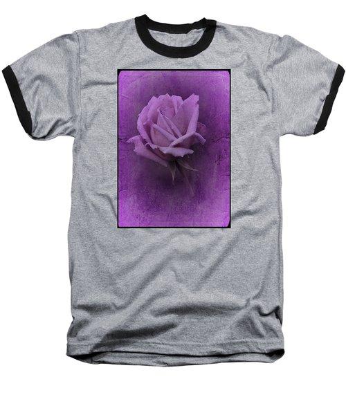 Purple Rose Of November No. 2 Baseball T-Shirt by Richard Cummings
