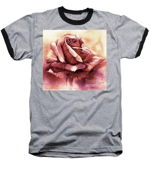 Baseball T-Shirt featuring the painting Purple Rose by Sandra Phryce-Jones