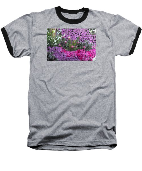 Purple Roses, Pinks And White Baseball T-Shirt