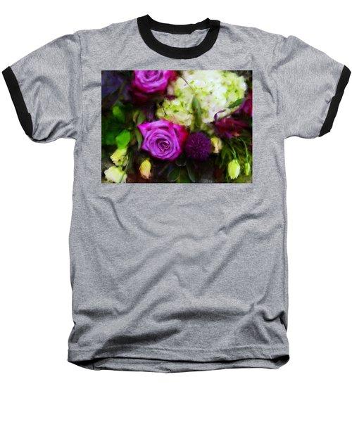 Purple Roses With Hydrangea Baseball T-Shirt