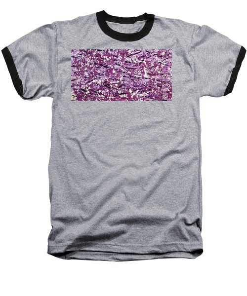 Baseball T-Shirt featuring the painting Purple Splatter by Thomas Blood