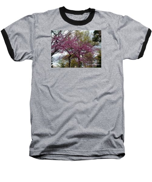 Purple Spring Trees Baseball T-Shirt