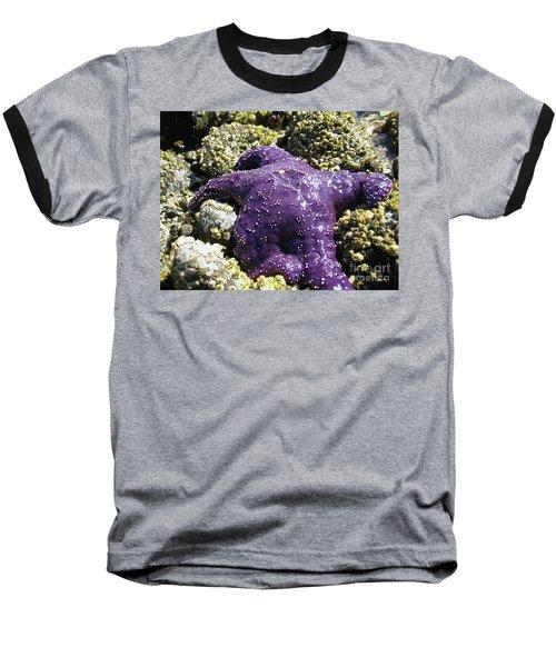 Purple Star Fish Baseball T-Shirt
