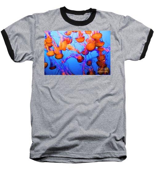 Purple Striped Jelly Fish I  Baseball T-Shirt