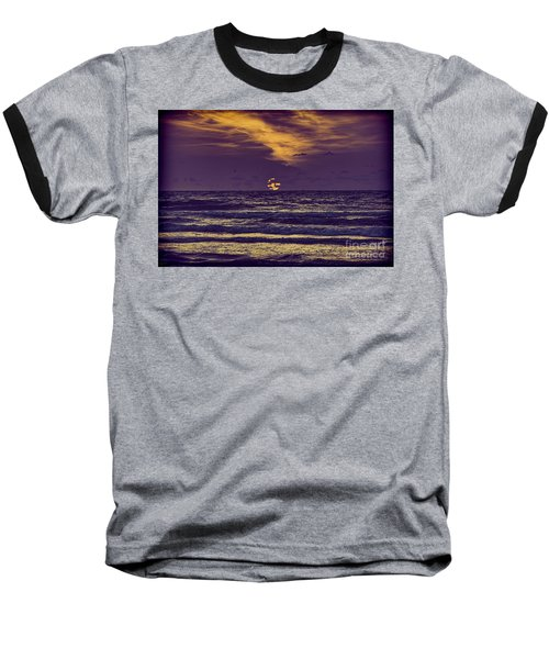 Purple Sunrise Baseball T-Shirt