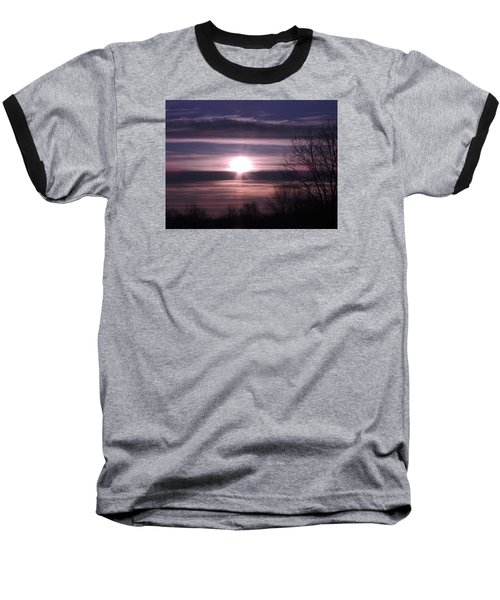 Baseball T-Shirt featuring the photograph Purple Sunrise by Teresa Schomig