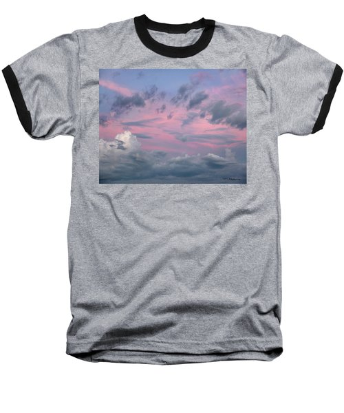 Purple Sunrise Baseball T-Shirt by Tim Fitzharris