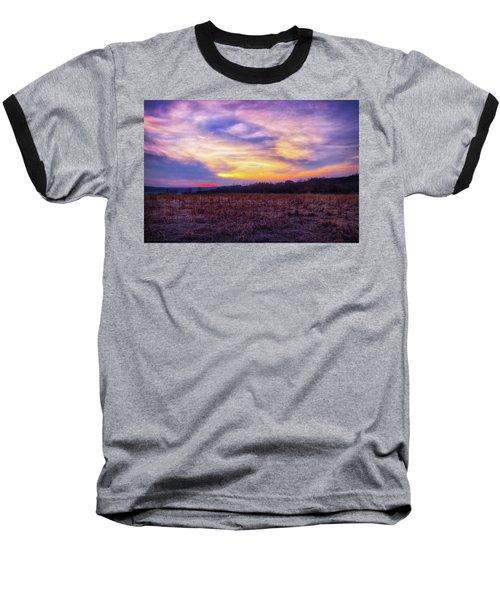 Baseball T-Shirt featuring the photograph Purple Sunset At Retzer Nature Center by Jennifer Rondinelli Reilly - Fine Art Photography