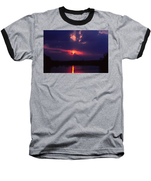 Purple Sunset Baseball T-Shirt