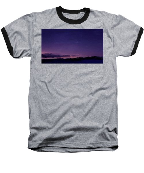 Purple Sunset Over Beach  Baseball T-Shirt
