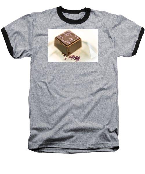 Purple Swirl Baseball T-Shirt