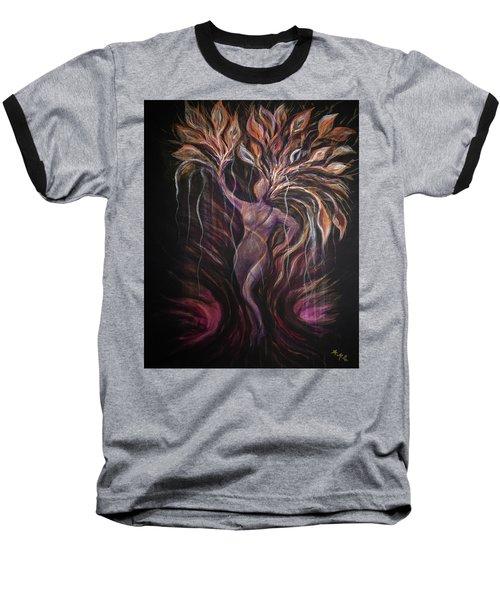 Purple Tree Goddess Baseball T-Shirt