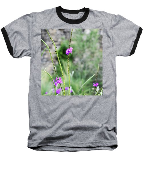 Purple Vebena Baseball T-Shirt