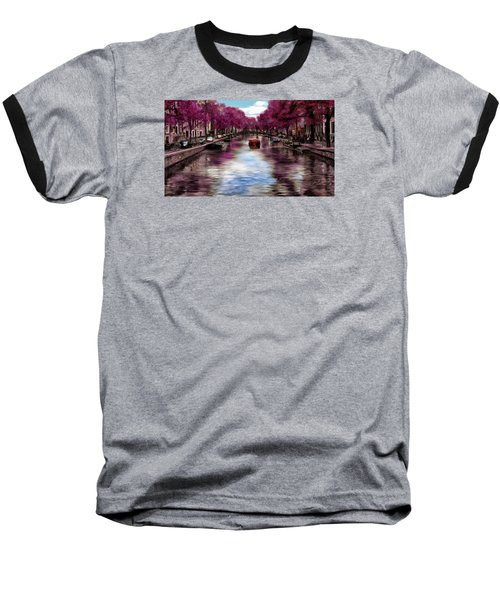 Purple Water Baseball T-Shirt