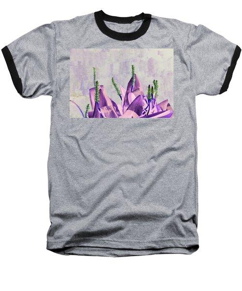 Purple Water Plant Baseball T-Shirt