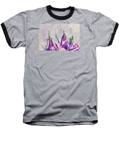 Purple Water Plant Baseball T-Shirt