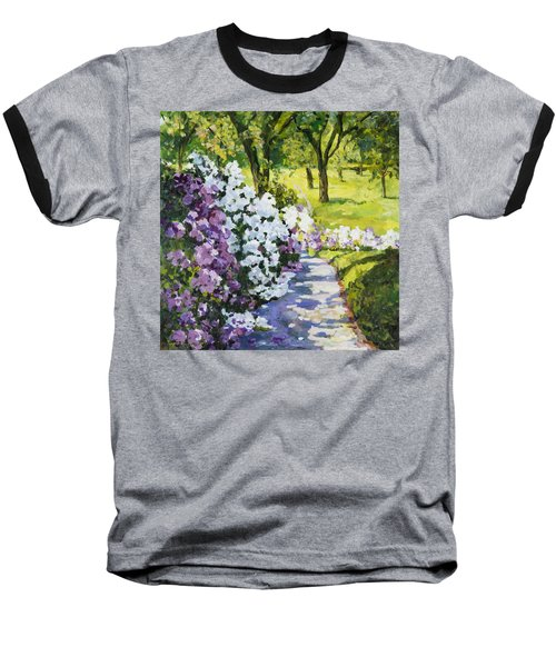 Purple White Baseball T-Shirt