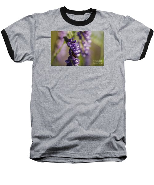 Purple Wildflowers Baseball T-Shirt