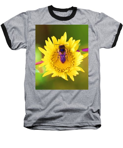 Baseball T-Shirt featuring the photograph Purple Wings by John King