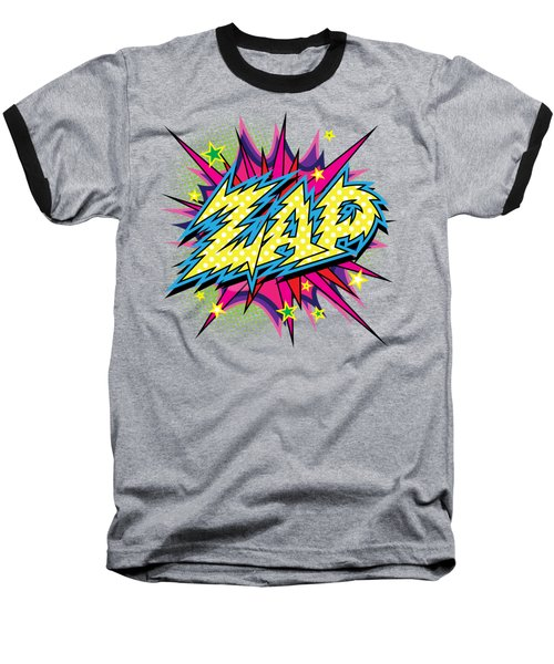 Purple Zap Baseball T-Shirt