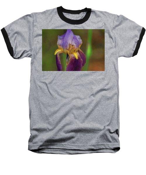 Purplish Iris Baseball T-Shirt by Rick Friedle