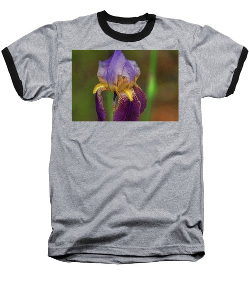 Purplish Iris Baseball T-Shirt