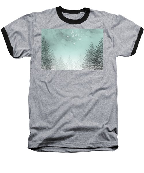 Baseball T-Shirt featuring the painting Purpose Driven by Trilby Cole