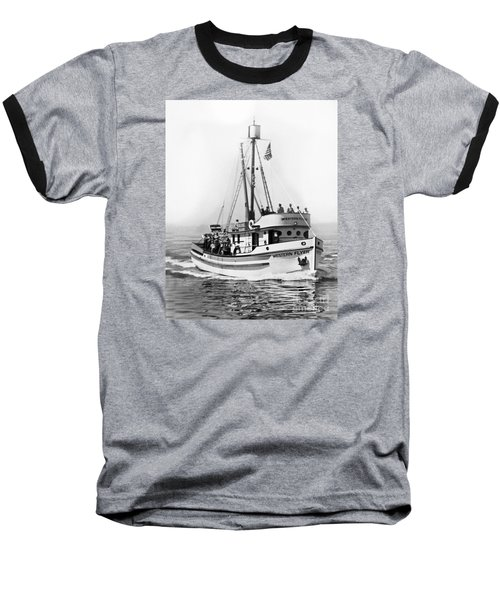 Purse Seiner Western Flyer On Her Sea Trials Washington 1937 Baseball T-Shirt by California Views Mr Pat Hathaway Archives