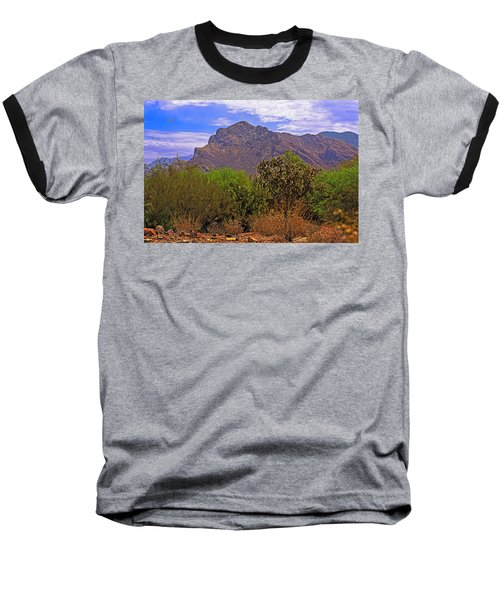 Baseball T-Shirt featuring the photograph Pusch Ridge Morning H10 by Mark Myhaver