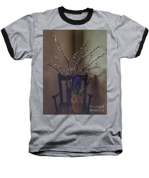 Pussy Willow And Hyacinth Still Life Baseball T-Shirt
