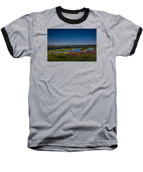 Put Out To Pature Baseball T-Shirt by Peter Scott
