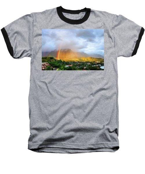 Puu Alii With Rainbow Baseball T-Shirt