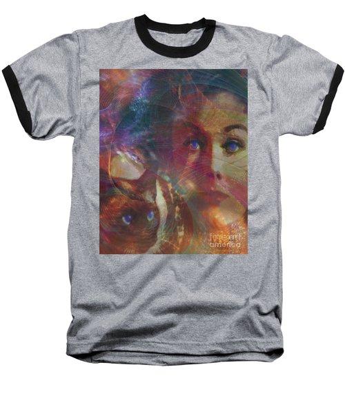 Pyewacket And Gillian Baseball T-Shirt by John Robert Beck